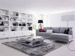 je veux un salon design elle decoration With tapis de sol avec canape lit en cuir contemporain