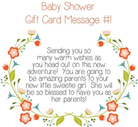 Top 10 Baby Shower Gift Card Messages  Little Girls Pearls