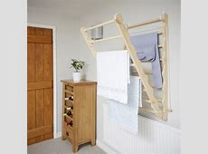Wall Mounted Wooden Clothes Airer Pine