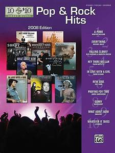Pop U0026 Rock Hits 2008 Edition Sheet Music By Various