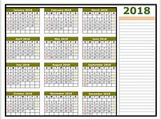 May 2018 Calendar Template Yearly Calendar 2018 Printable