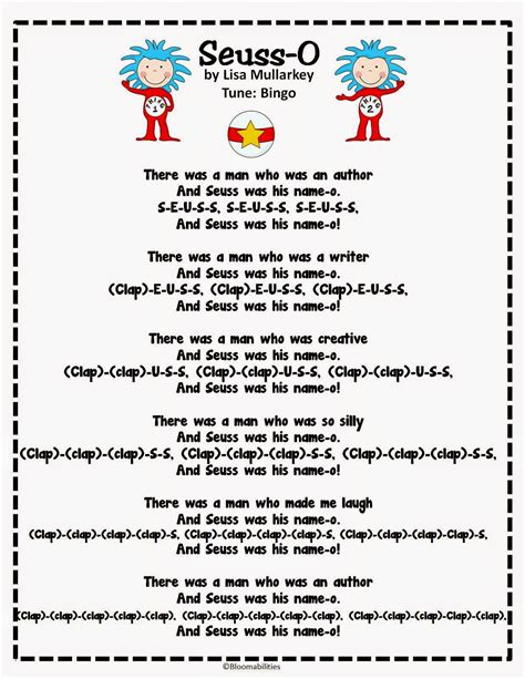 doctor song for preschool grade bloomabilities thanks and seuss song 690