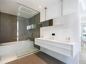 Meuble Salle De Bain Moderne : 101 photos de salle de bains moderne qui vous inspireront ~ Nature-et-papiers.com Idées de Décoration