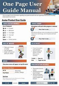 One Page User Guide Manual Presentation Report Infographic