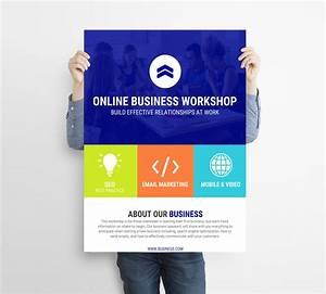 Single Page Brochure Template Colorful Transparent Workshop Event Flyer Template