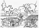 Coloring Pages Zoo Animals Printable Monkey Craft sketch template