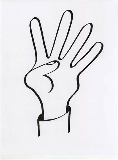 Finger Fingers Middle Clipart Four Drawing Clip