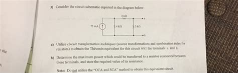Solved Consider The Circuit Schematic Depicted Dia