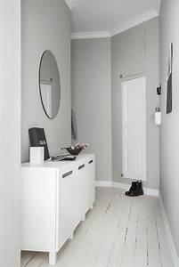 decorer un couloir plus de 70 idees en photos pour vous With couleur de peinture pour couloir 17 le carrelage damier noir et blanc en 78 photos archzine fr