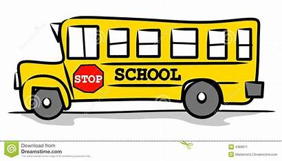 Bus Clip Clipart Drawing Yellow Schoolbus Simple