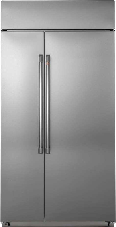 cafe  cu ft stainless steel built  side  side refrigerator csbwpns friedmans
