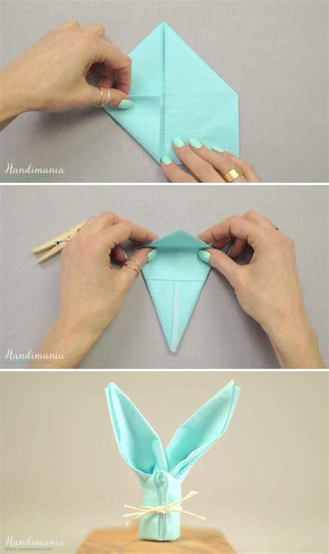 Hasen Servietten Falten by Paper Napkin Bunny Crafts Tips And Diy