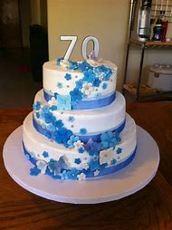 70th Birthday Party Cake Ideas
