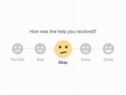 Feedback Ui Emoji Rating Ux Animation Customer