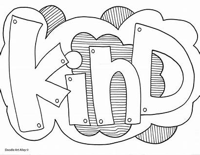 Coloring Kind Doodle Alley Quote Quotes Students