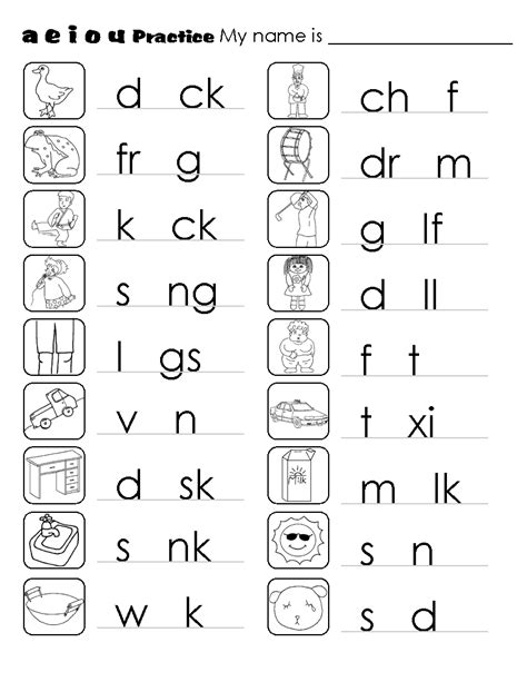image result for vowels and consonants worksheets dslton