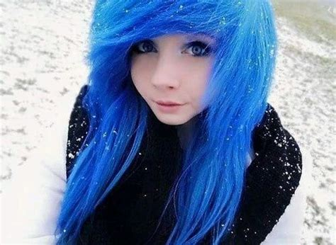 Blue Hair Emo And Scene Girl Image Emo Scene Hair Emo