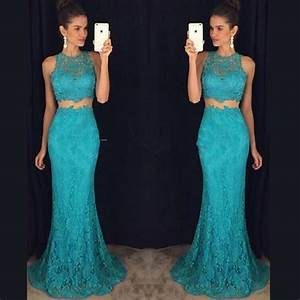 2016 sexy long two 2 piece prom dresses cheap mermaid With robe pour bal de promo