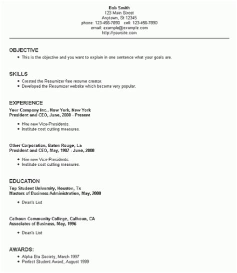 Resume Setups Exles by 50 Free Resume Cv Templates