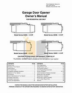 Chamberlain 1 2 Hp Garage Door Opener Installation