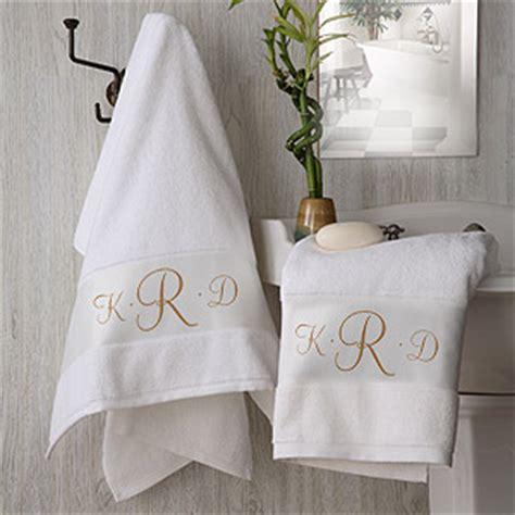 white cotton monogrammed bath towel set   home