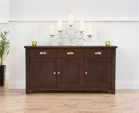 3 Door Sideboard by Sandringham 3 Door 3 Drawer Sideboard Oak Rustic