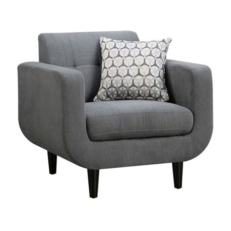 coaster stansall modern accent chair in gray 505203