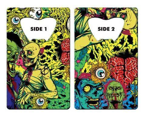inked card bottle opener eye heart zombies
