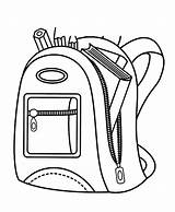 Backpack Coloring Pencil Pages Contain Case Sheet Inspirational Paper Tocolor Utilising Button sketch template