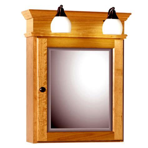 medicine cabinet with lights strasser woodenworks 24 inch rounded profile single door
