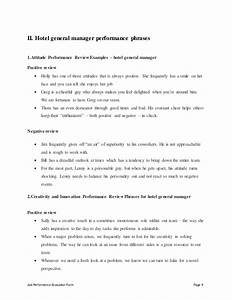 hotel general manager performance appraisal With general manager contract template
