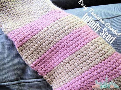 tunisian crochet  infinity scarf pattern baby
