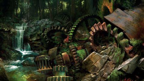 video games ruins guild wars gears fantasy art wallpaper