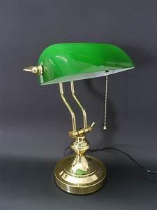 Lampe Für Bilder : bankerlampe schreibtischlampe lampe leuchte messing mit ~ Lateststills.com Haus und Dekorationen