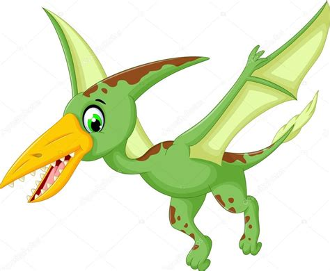 Funny Pterodactyl Cartoon Flying