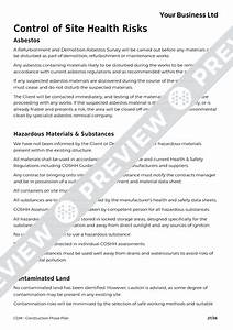 excellent site safety plan template contemporary resume With cdm construction phase plan template
