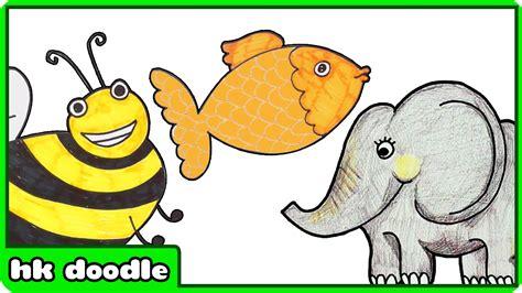 easy animal drawings  kids vol  step  step