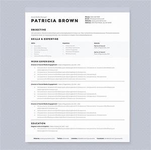 Clean resume template pkg resume templates on creative for Clean resume template free
