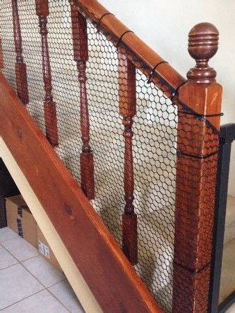 baby proof banister hack easy inexpensive diy banister guard operation