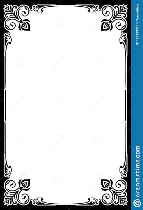 blank restaurant menu template card frame background cute