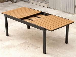 Table Jardin Design : table jardin bois salon jardin teck horenove ~ Melissatoandfro.com Idées de Décoration