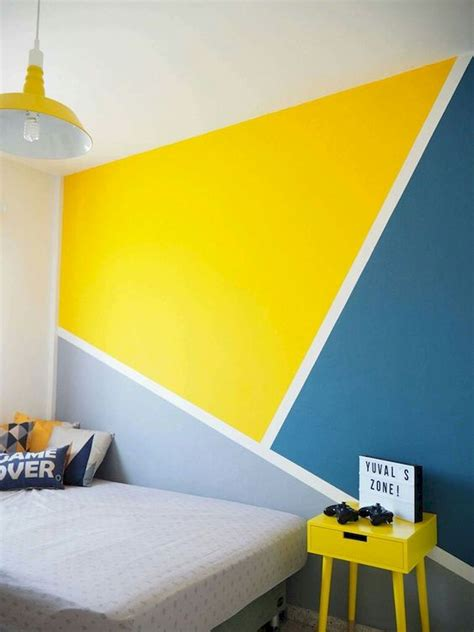 geometric wall art paint design ideas  diy