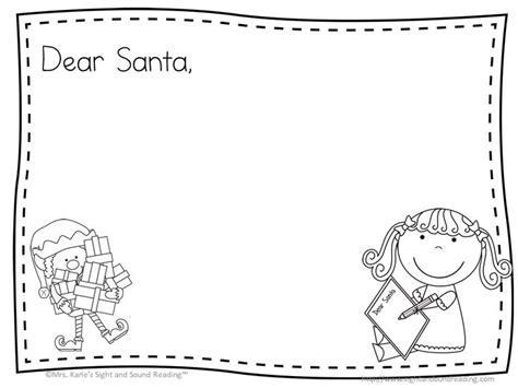 Dear Santa Template Kindergarten Letter by Best 25 Santa Letter Template Ideas On Free