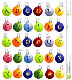 Christmas Alphabet Letters Clip Art