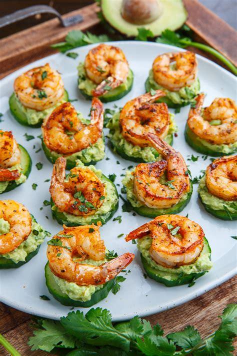 shrimp canape recipe blackened shrimp avocado cucumber bites on closet cooking