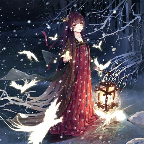 anime girl snow wallpaper engine   wallpaper