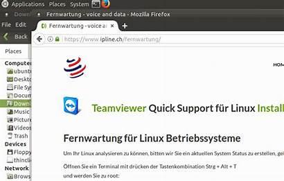 Linux Fernwartung Enterprise Viewer Team Fuer Installationsanleitung