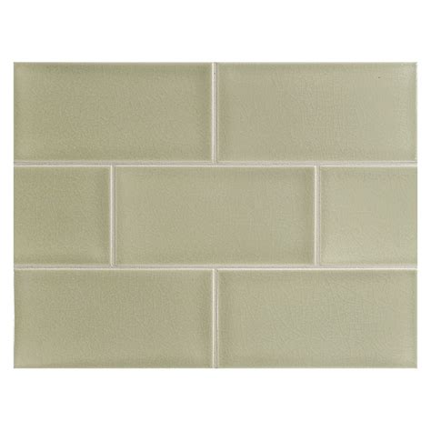 vermeere ceramic tile botanical green crackle 3 quot x 6