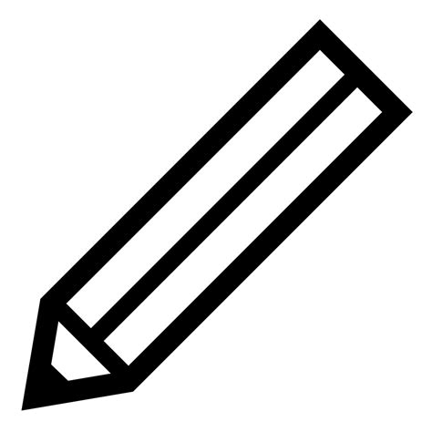 pencil clipart png black and white file black pencil svg wikimedia commons