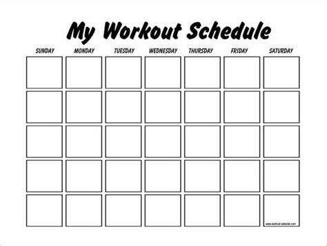 workouts log templates printable   workout schedule